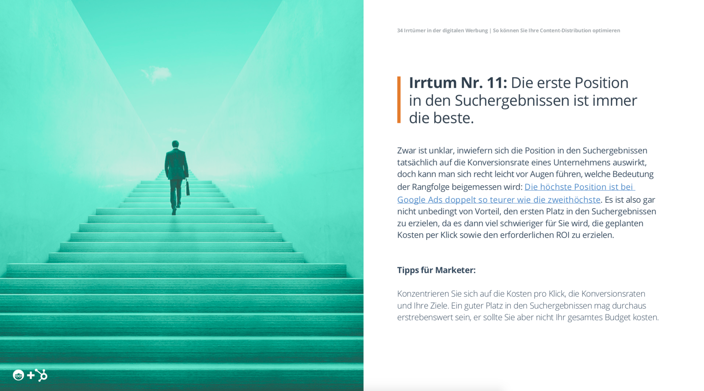 Hubspot E-Book Irrtümer im Digital Marketing