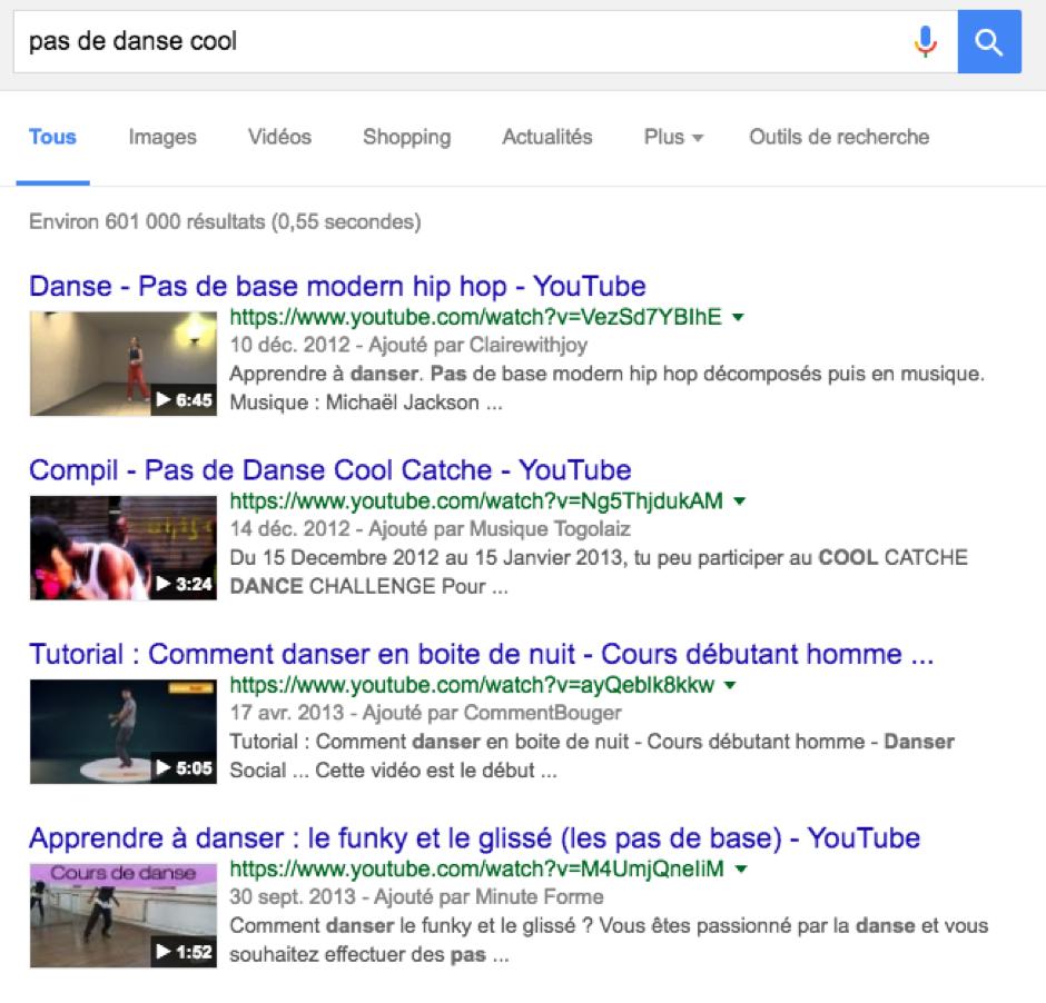 pas de danse cool- Google