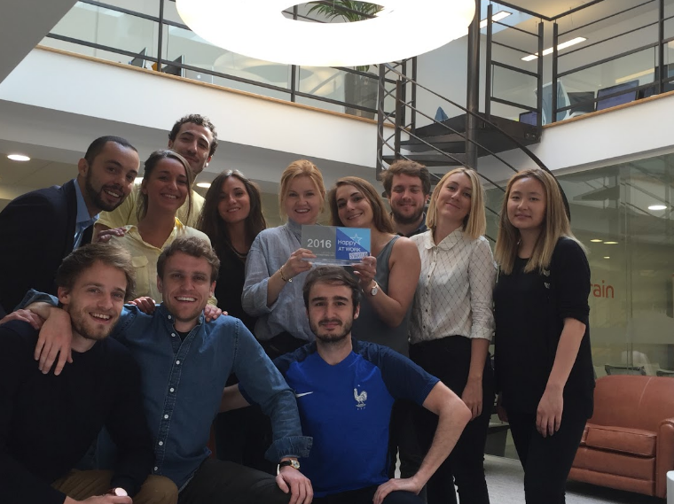 Outbrain Paris Ranks Top Ten for Happy At Work Awards