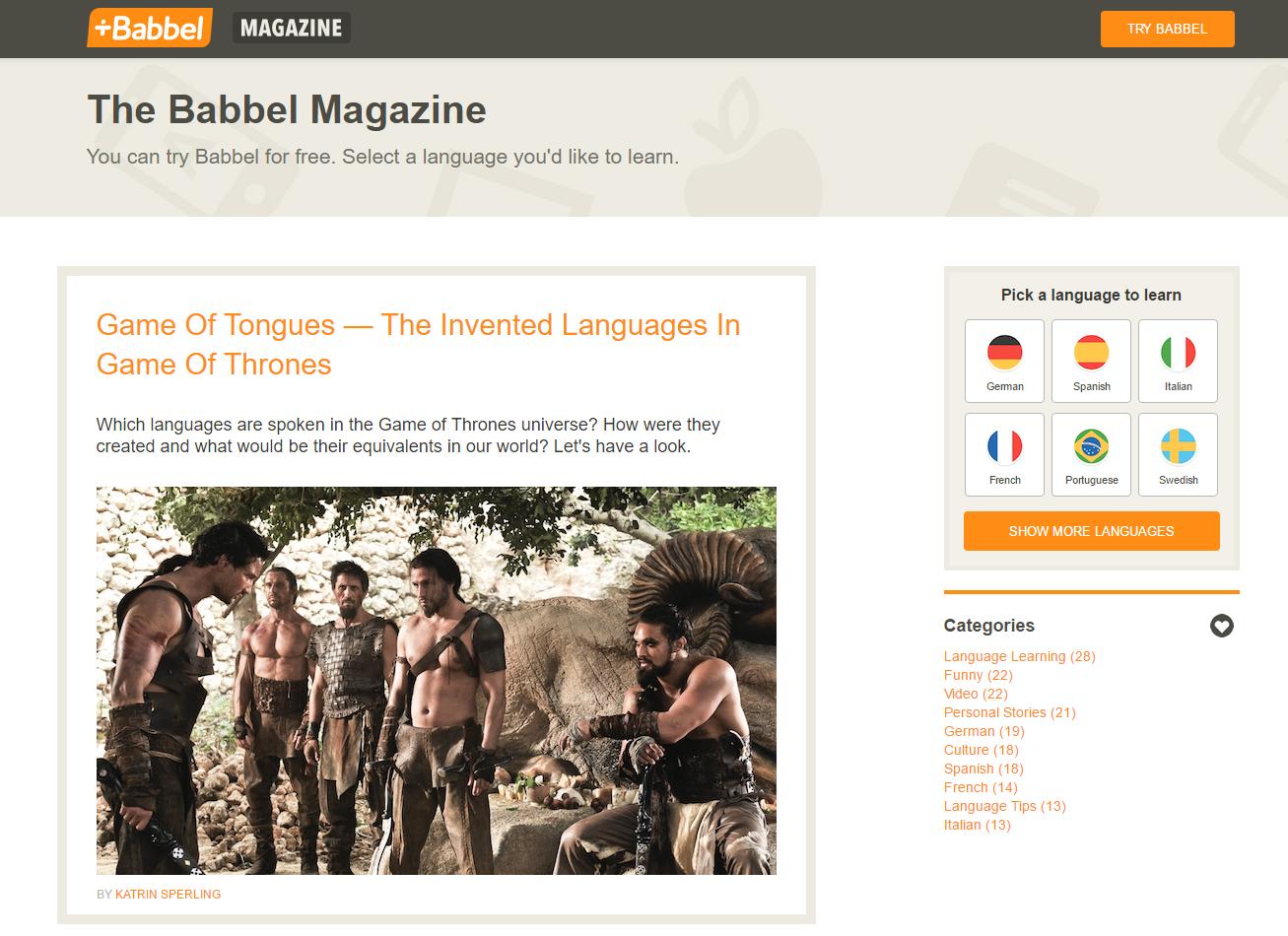 babbel magazine