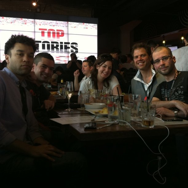 Team Outbrain at the CNN Grill via Court Connell
