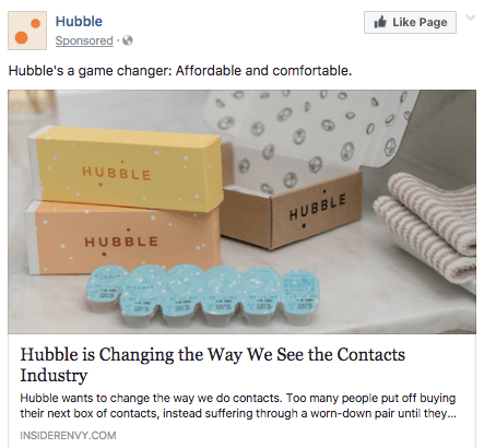 Hubble Facebook Ad