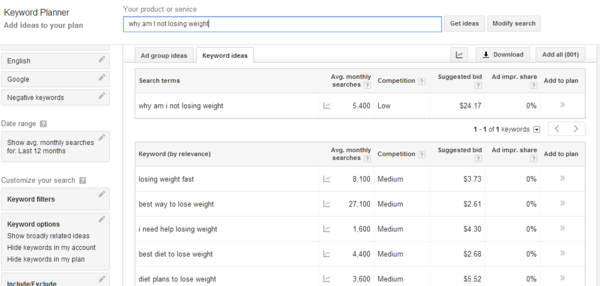 adwords keyword research screenshot
