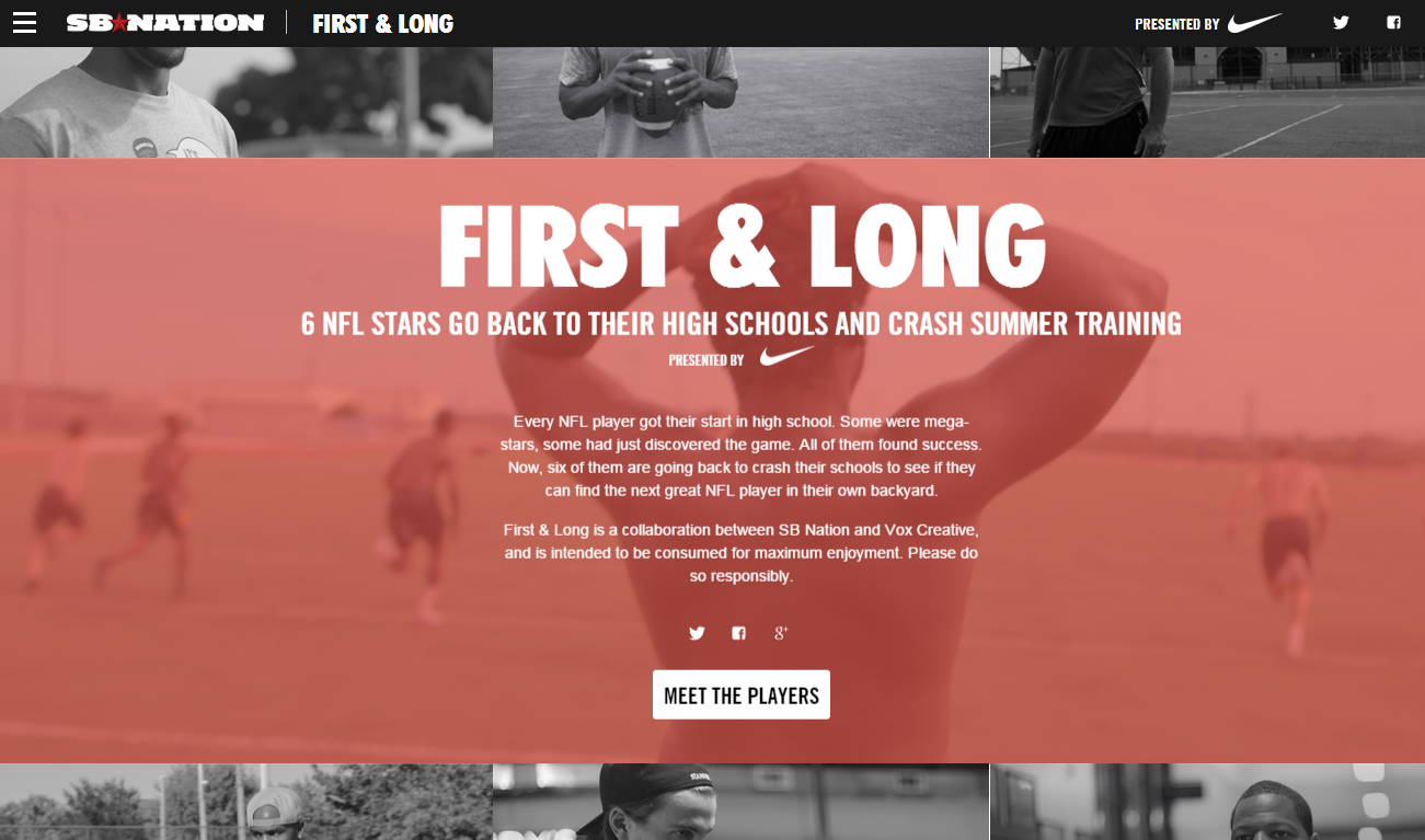 Nike and SB Nation First and Long
