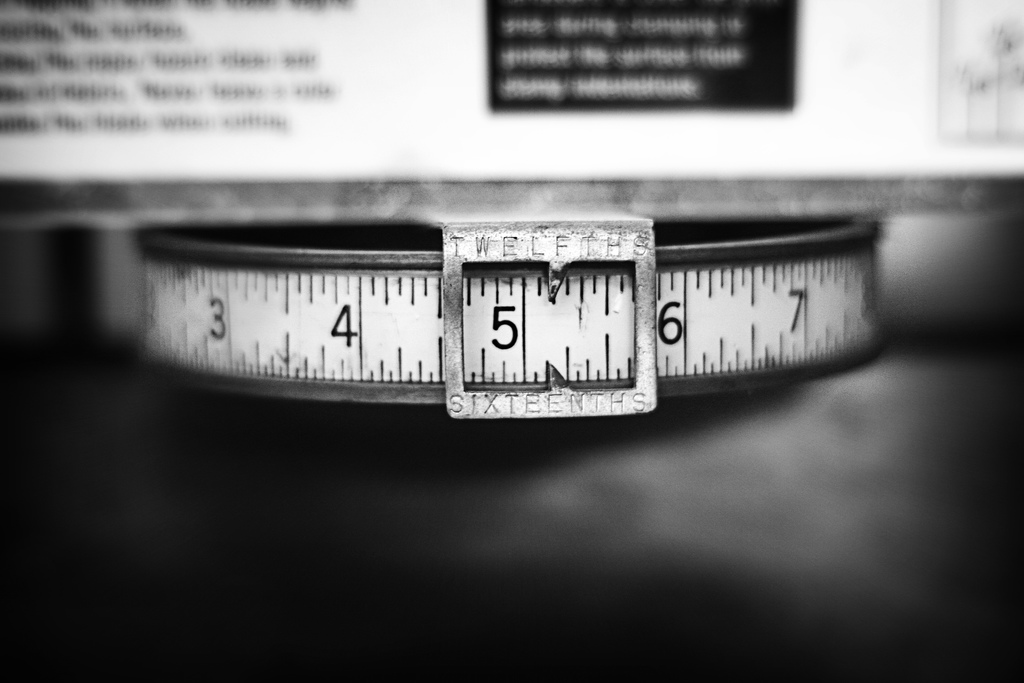 Photo, measuring tape