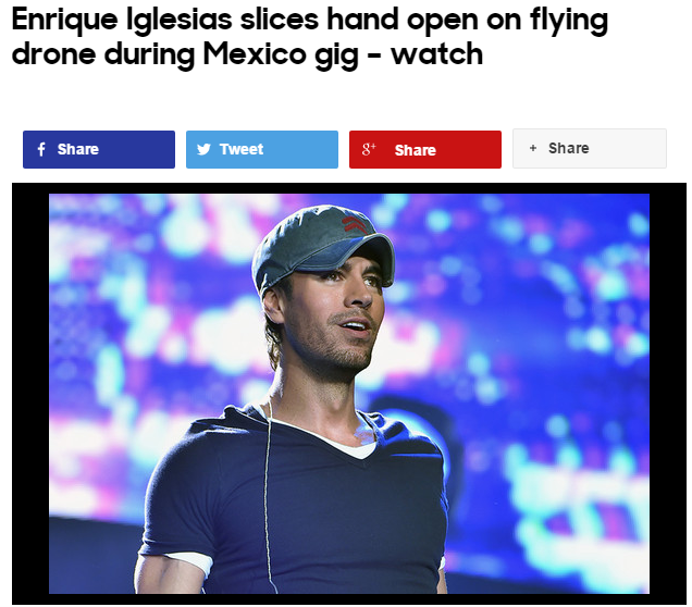 enrique iglesias and flying drones