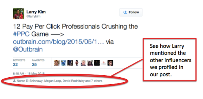 Larry Kim's tweet about PPC Professionals