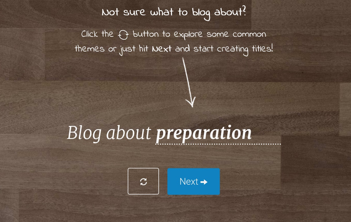 Blogabout is an idea generator that actually works for bloggers