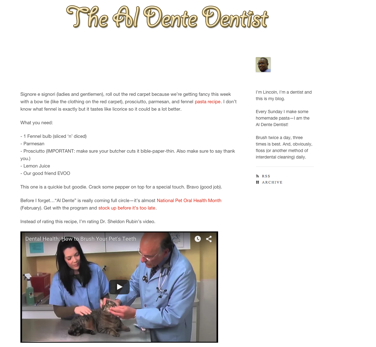Comedy Central Al Dente Dentist