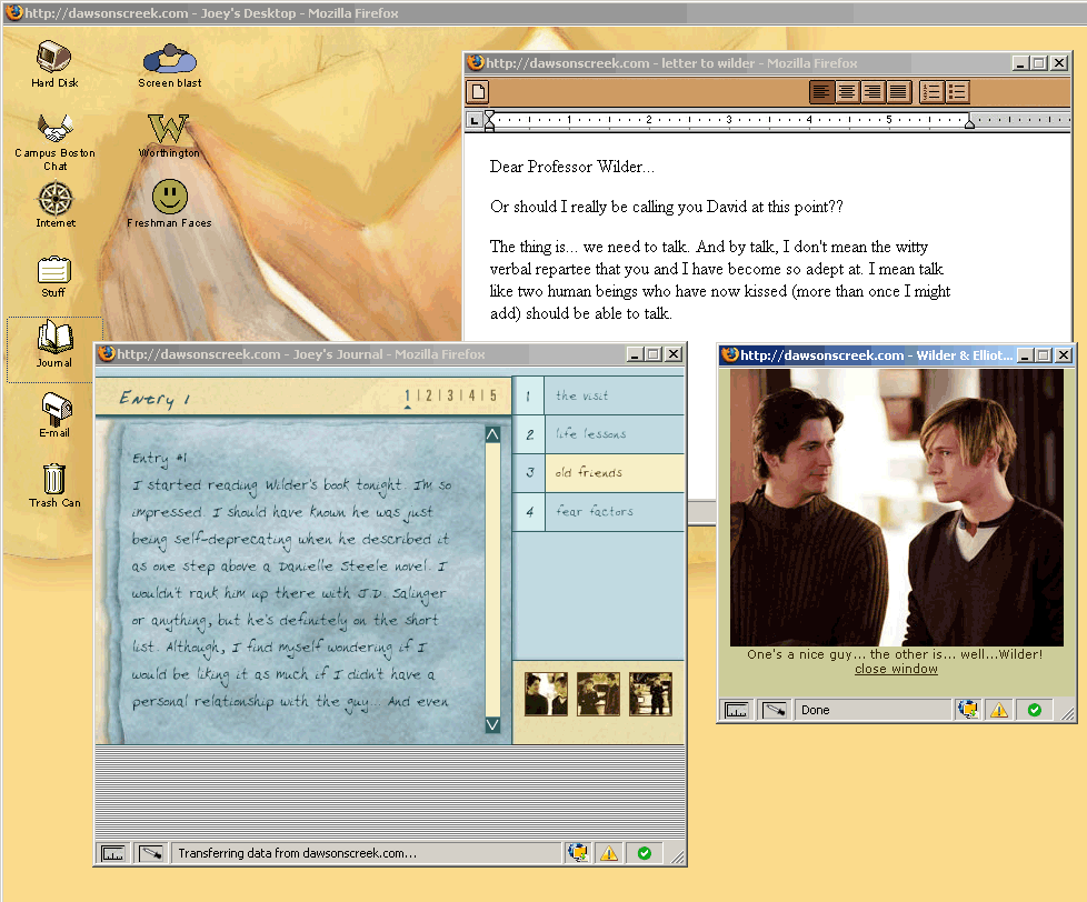 Dawsons Creek Online Journal