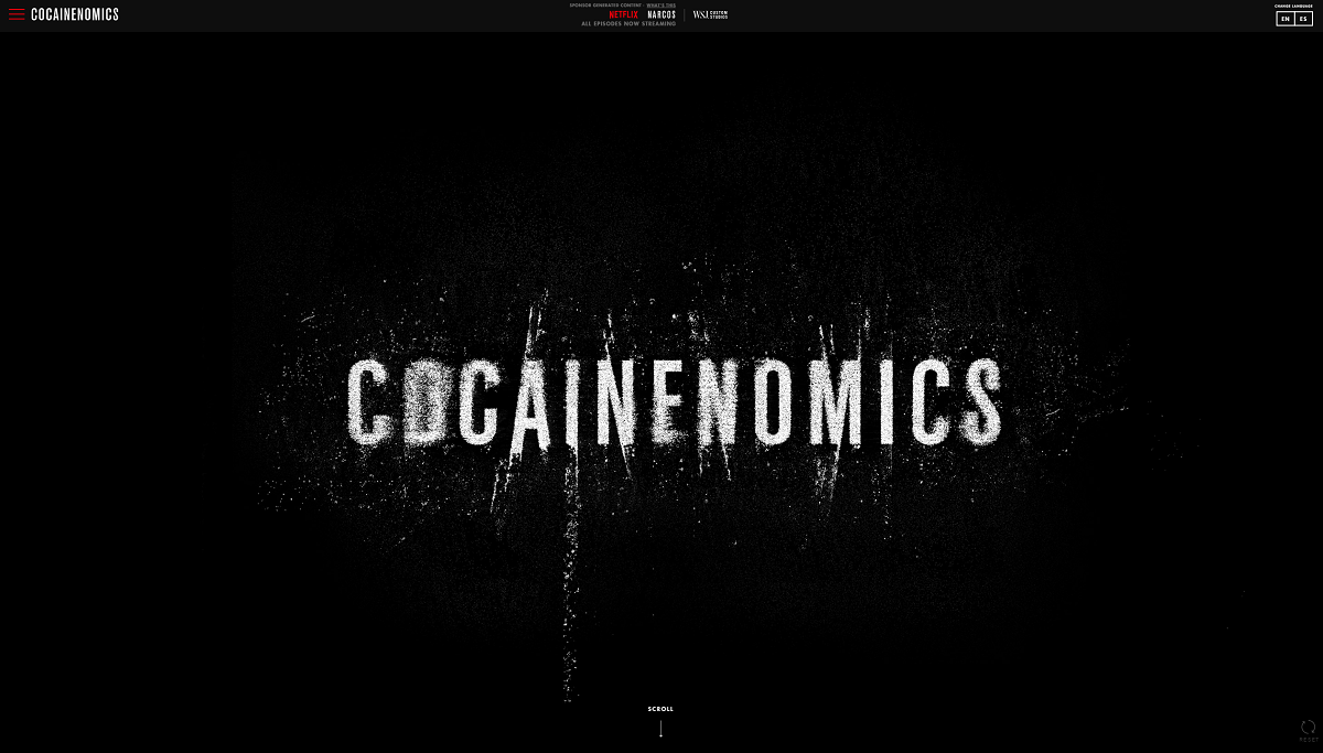 screenshot; Netflix's Cocaineomics