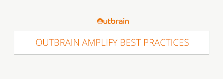 Outbrain_Amplify_BestPractices