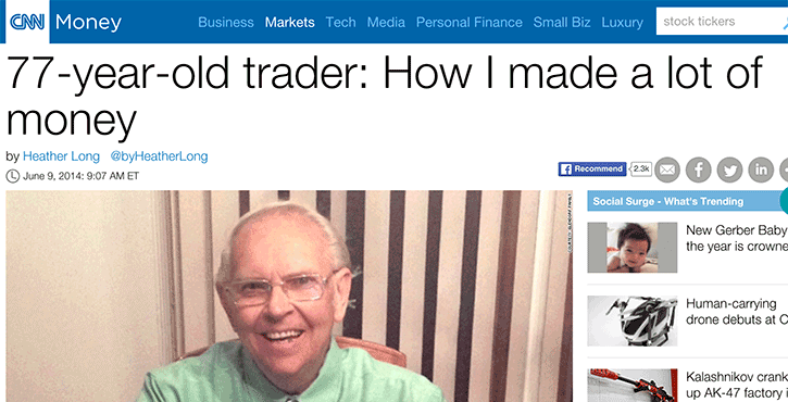 making millions by trading on the stock market