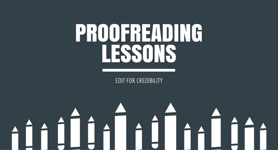 Online proofreading and editing