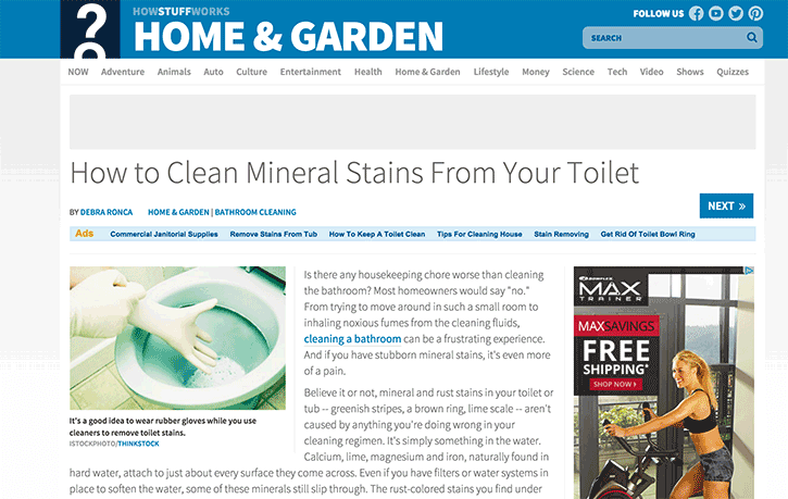 how to remove those pesky mineral stains from your toilet