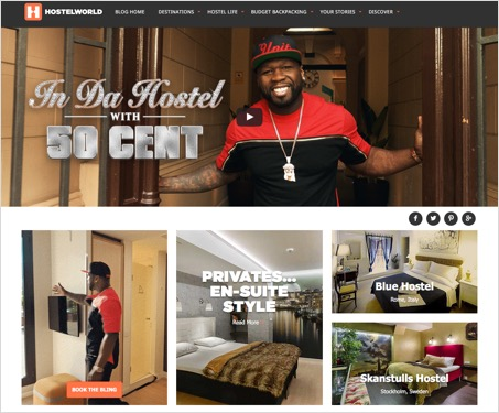 Hostelworld content page