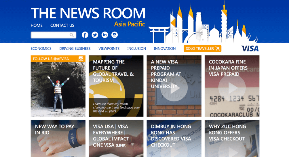 Visa Content Marketing Tumblr