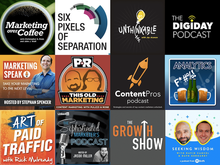 Marketing podcasts for the well rounded content marketer