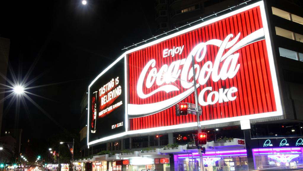 The Coca-Cola Billboard in Kings Cross