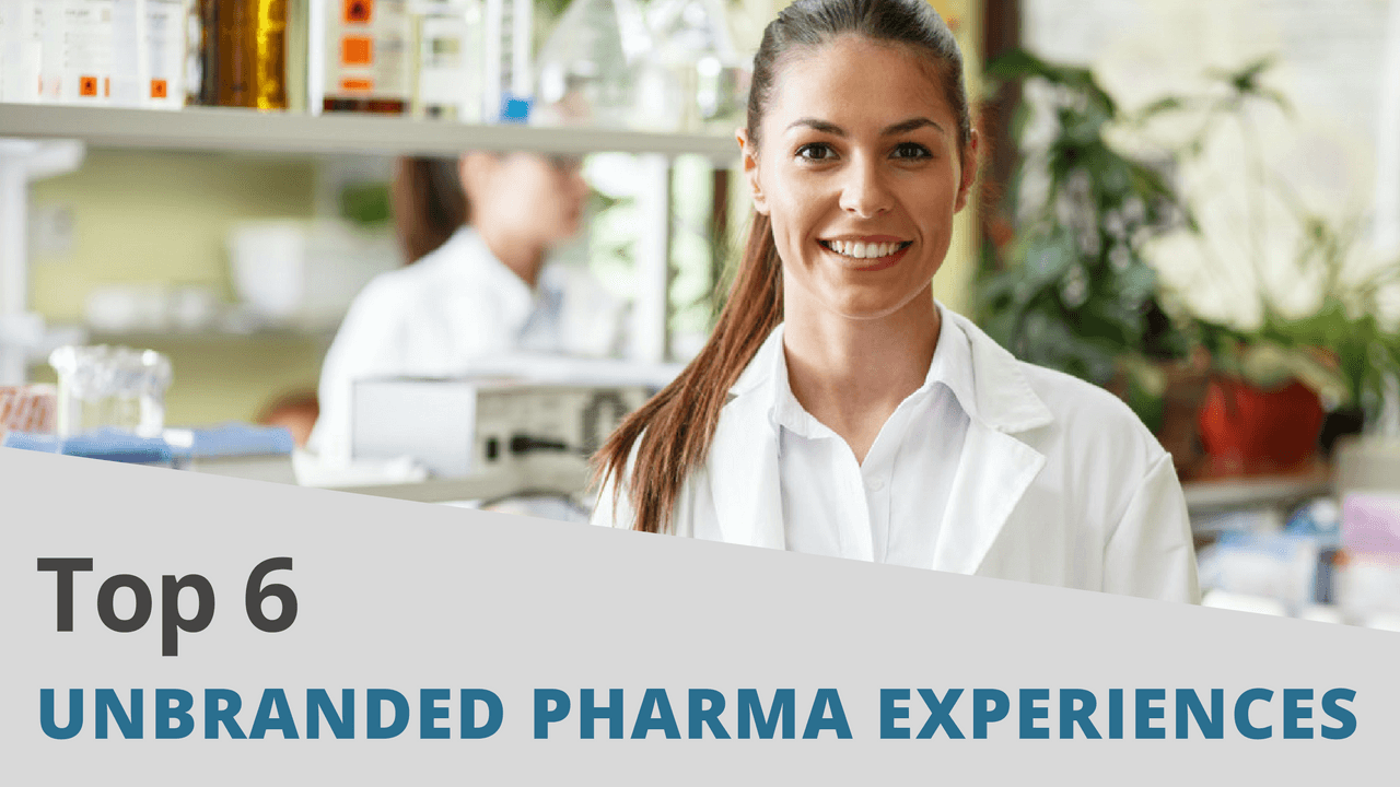 Top 6 Unbranded Pharma Experiences