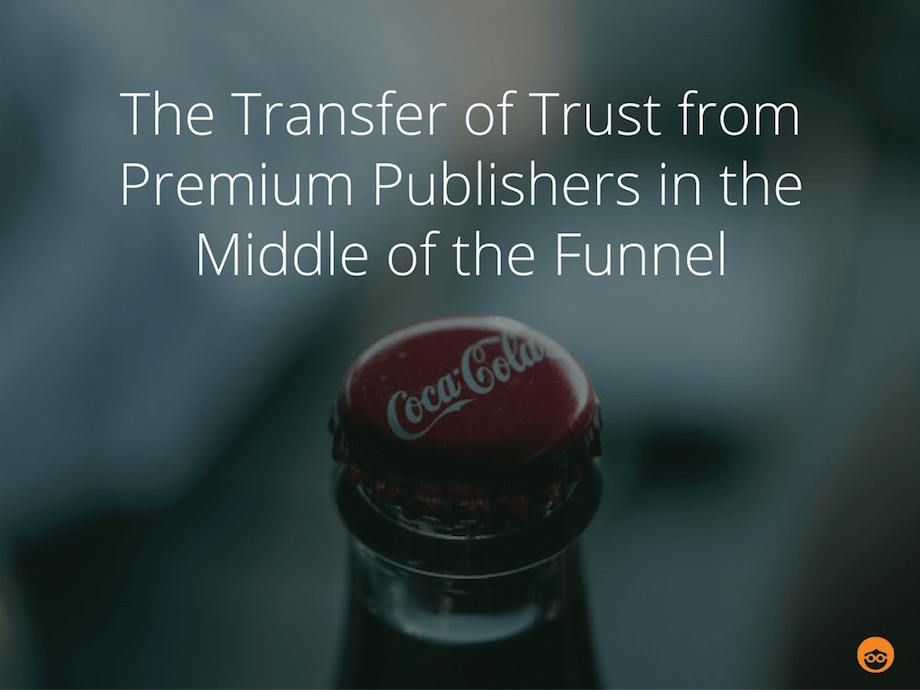 transfer of trust from premium publishers