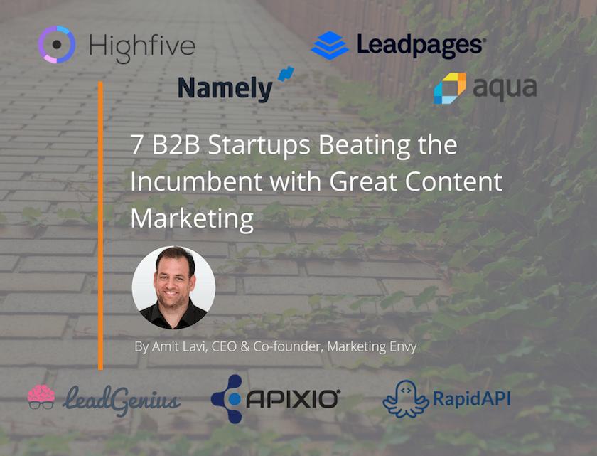 B2B startup content marketing