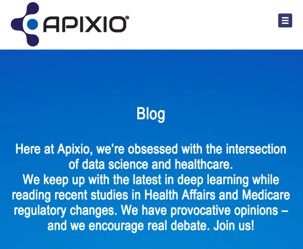 Apixio blog