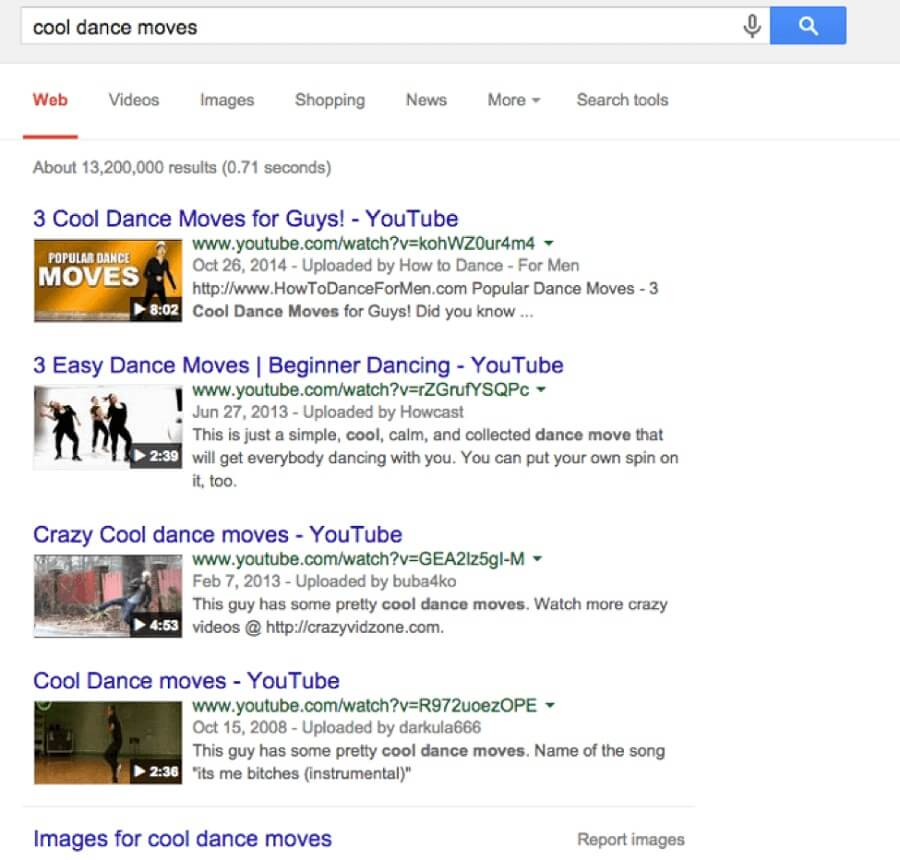 Google video search results - Outbrain blog