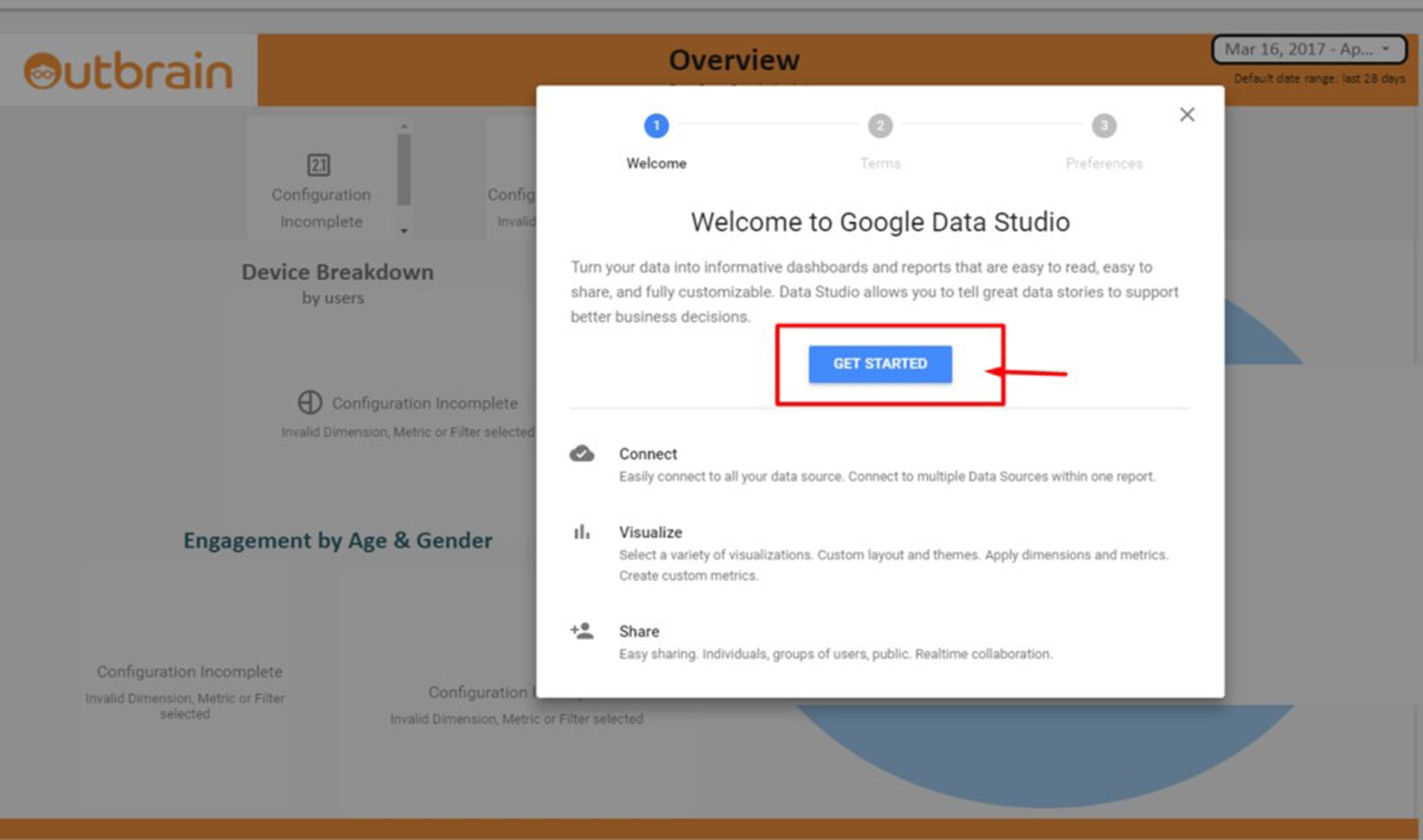 Welcome to Google data studio
