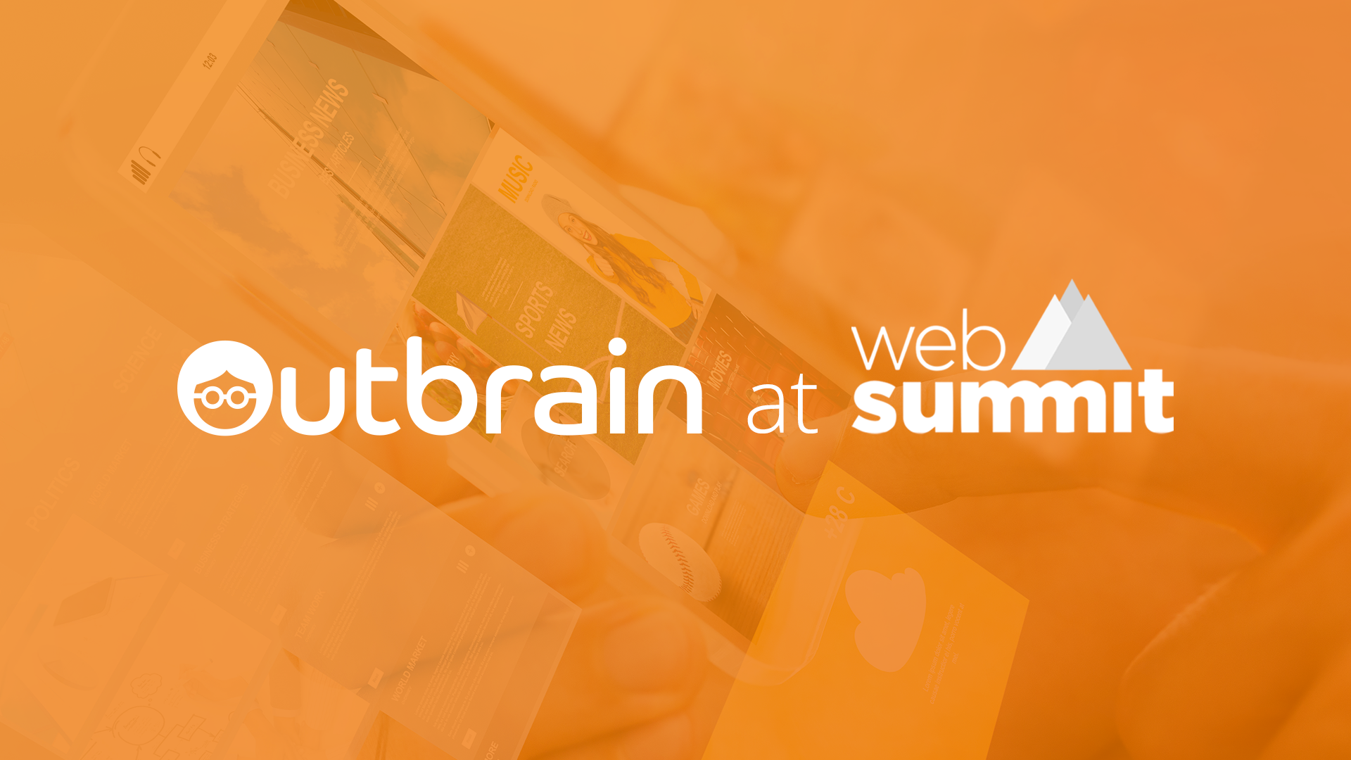 Outbrain at Web Summit in Lisbon