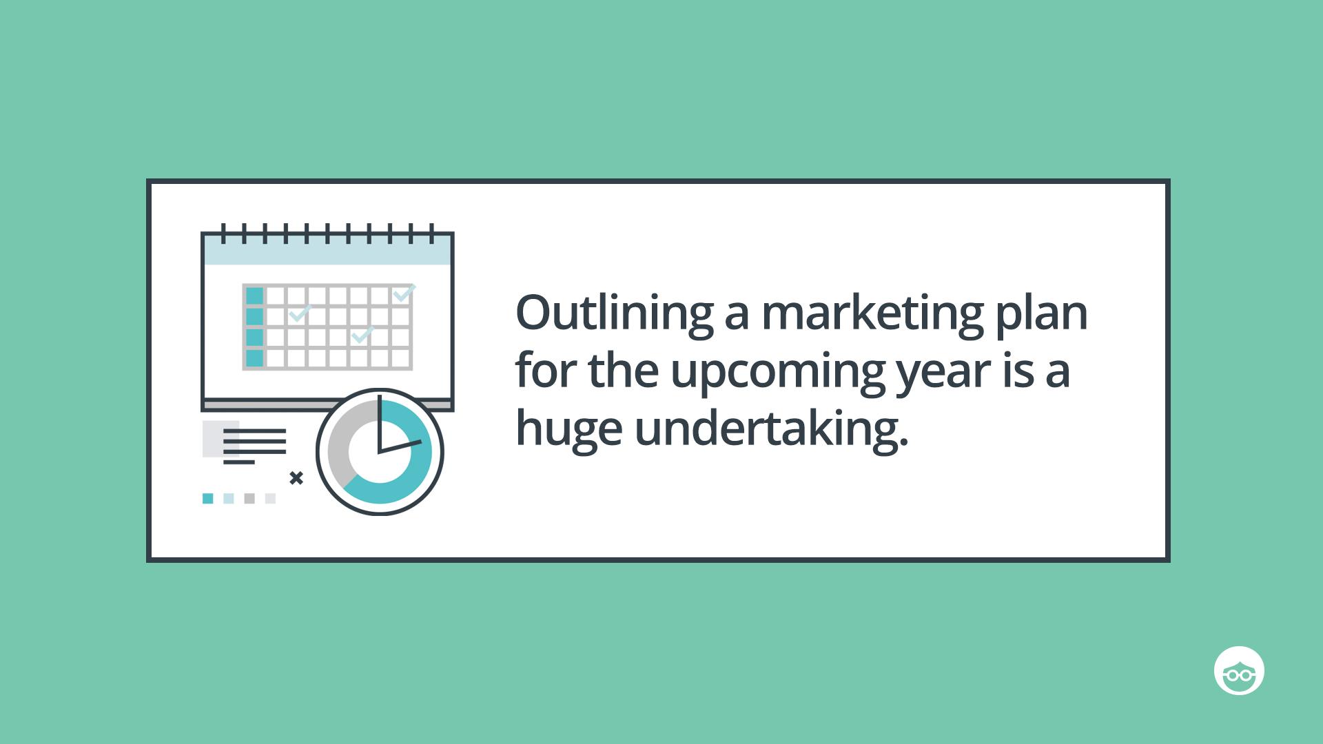 Plan your marketing plan ahead