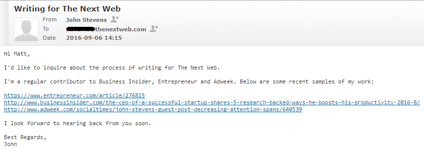 pitch that got me published by The Next Web