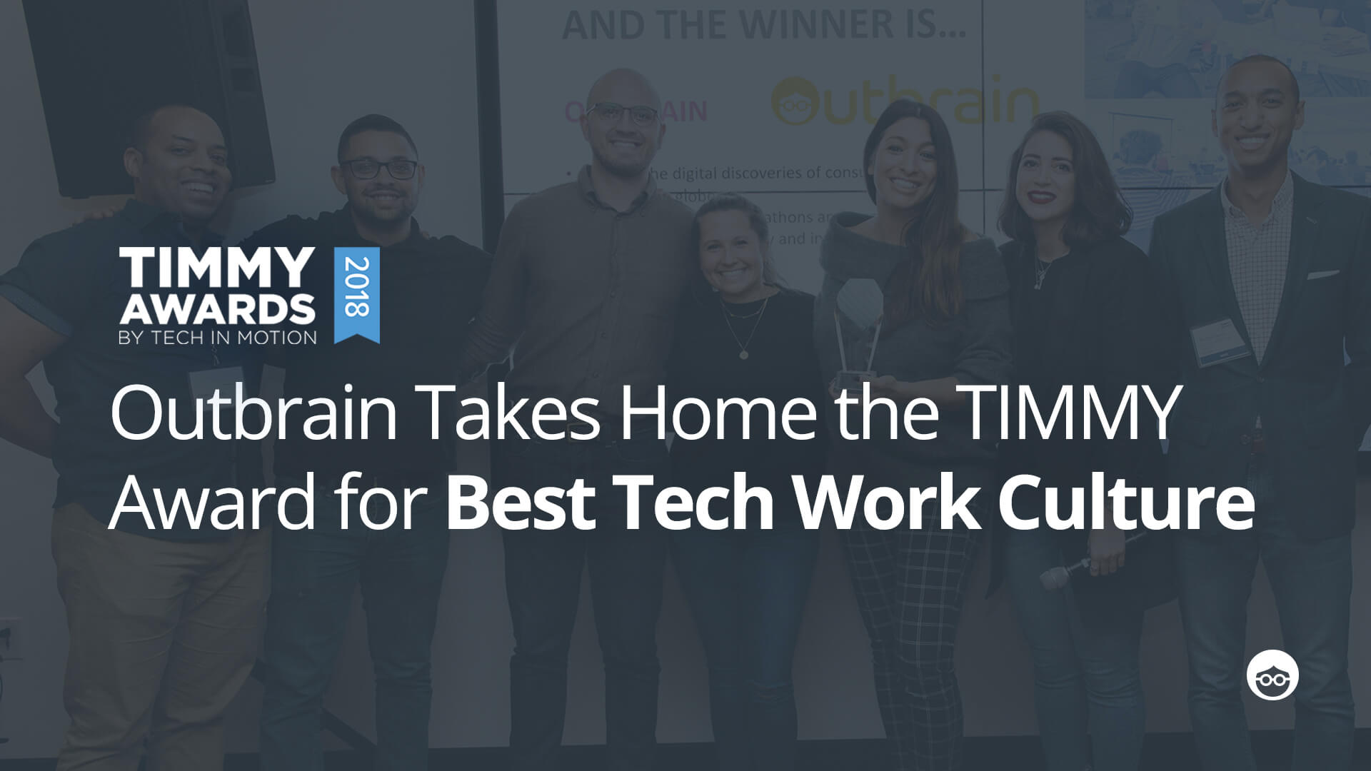 "Outbrain Wins ""Best Tech Work Culture"" New York Timmy Award"