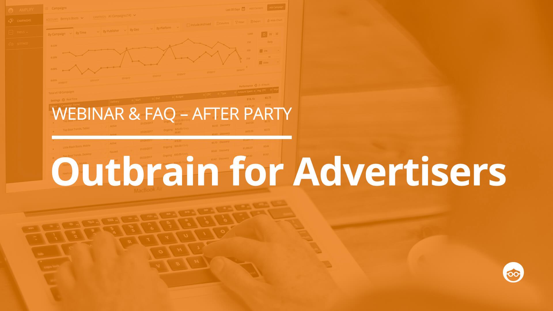 [Webinar Recap] Outbrain for Advertisers: Live FAQ