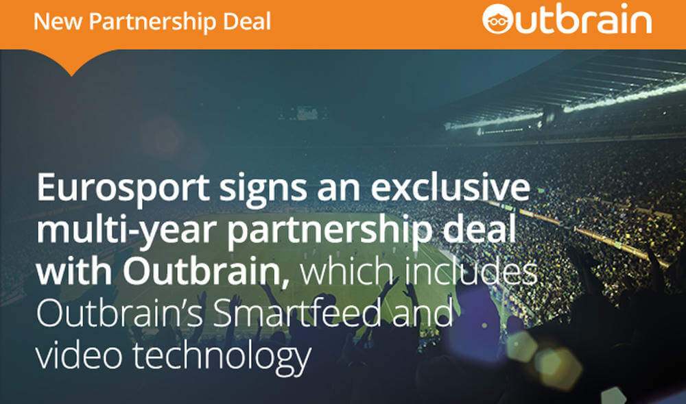 Eurosport Signs an Exclusive Multi-Year Partnership Deal with Outbrain