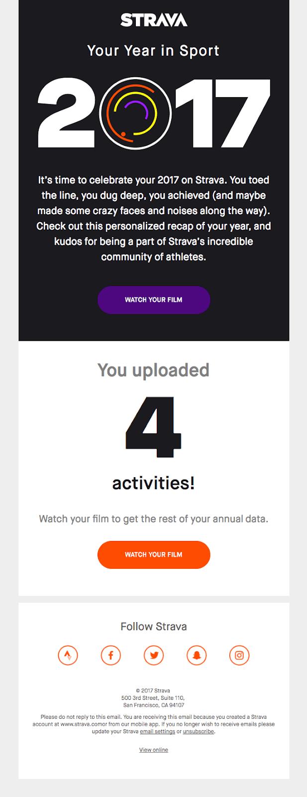 strava email