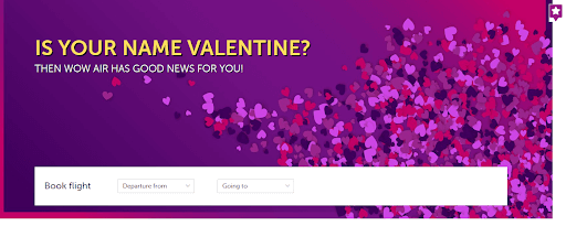 wow valentine day campaign