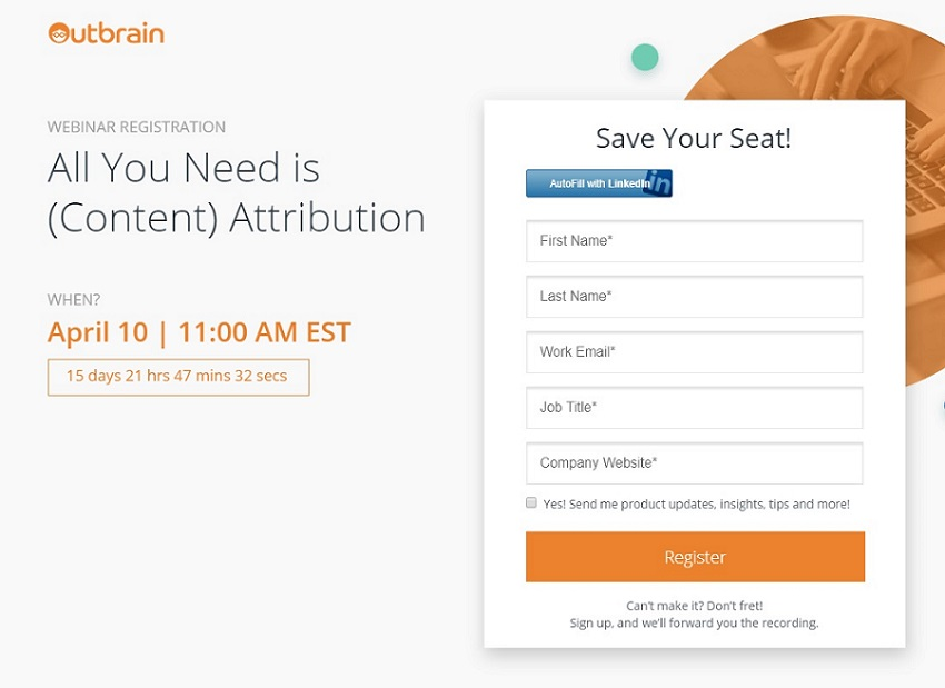How to reach CTA - Outbrain