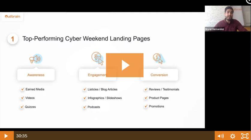 Webinar Recap Outbrain For Advertisers Black Friday Digital Strategies Outbrain