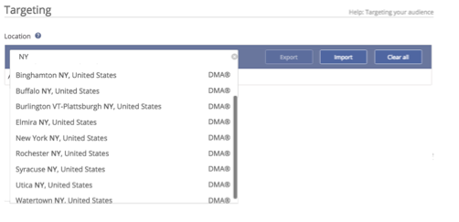 Targeting at Outbrain Dashboard